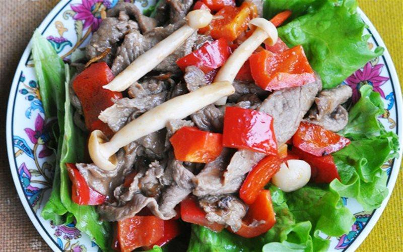 Cách Làm Thịt Bò Xào Nấm Linh Chi Trắng Ăn Cơm