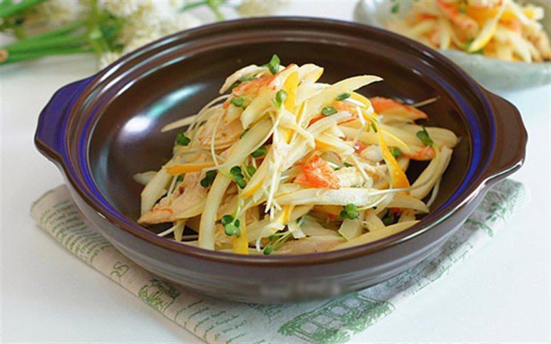 Cách Làm Salad Dưa Lê Thịt Gà Giảm Cân Hiệu Quả