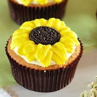 Cupcake hoa mặt trời