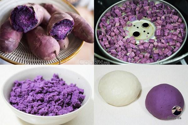 Cách Làm Bánh Bao Khoai Lang Tím Thơm Ngon Lạ Miệng - ảnh 1.