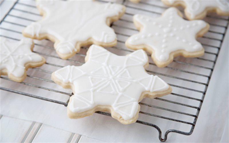Cách Làm Bánh Hoa Tuyết Giòn Tan, Cho Giáng Sinh