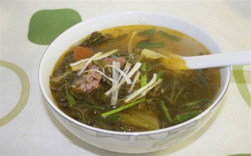 Cách Làm Canh Gân Bò Nấu Dưa Chua Ăn Giải Nhiệt