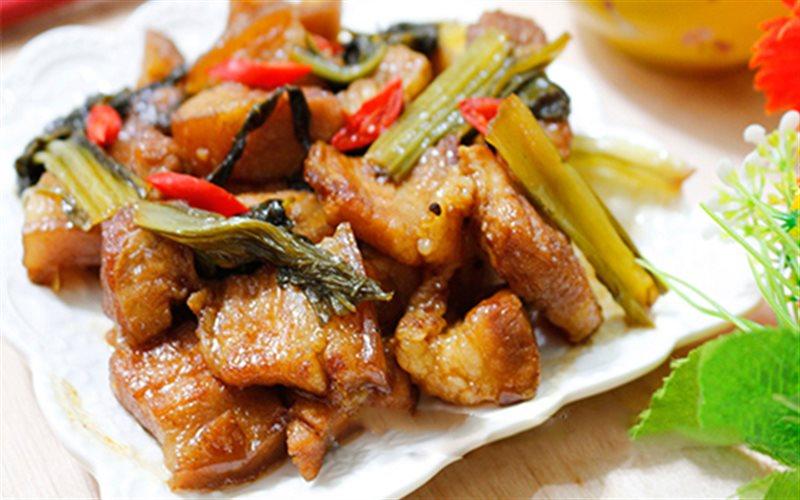 Cách Làm Thịt Heo Kho Dưa Cải Chua Cực Bắt Cơm