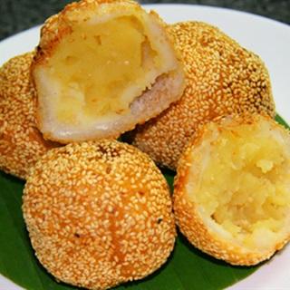 Cách làm Bánh Khoai Lang Đậu Xanh hấp dẫn cho cả nhà ăn vặt