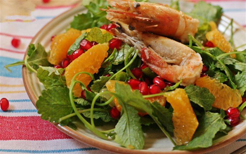 Cách Làm Salad Trái Cây Tôm Chiên Đơn Giản Mà Ngon