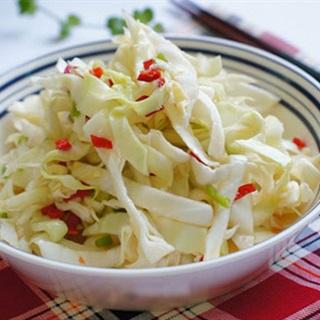 Cách làm bắp cải muối chua ngọt
