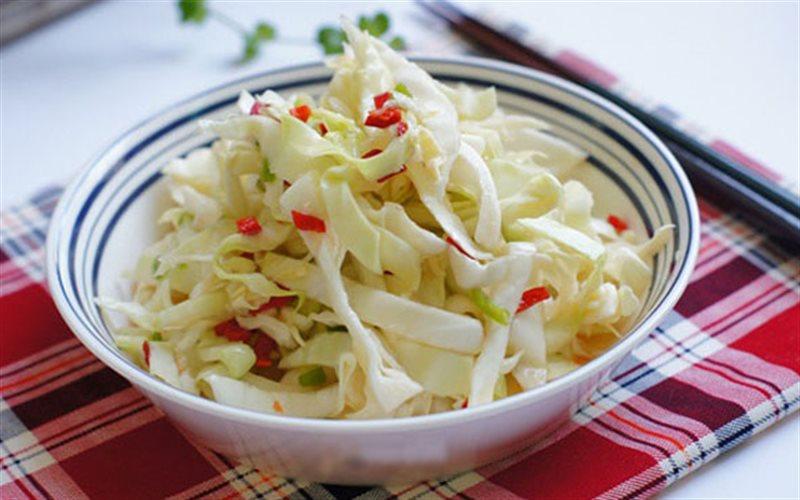 Kết quả hình ảnh cho bắp cải muối chua ngọt