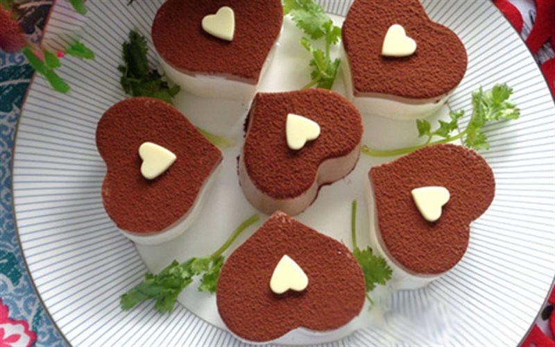 Cách Làm Bánh Phô Mai Cacao Hình Trái Tim Xinh Xắn