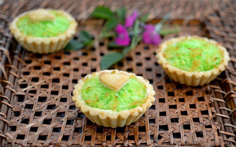 Cách Làm Bánh Tart Dừa Vị Lá Dứa Cực Thơm Ngon