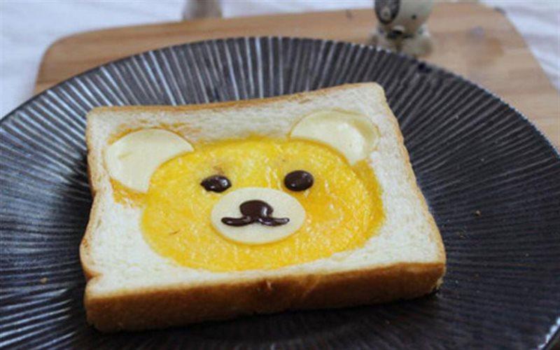 Cách Làm Bánh Mì Sandwich Hình Đầu Gấu Cho Bé
