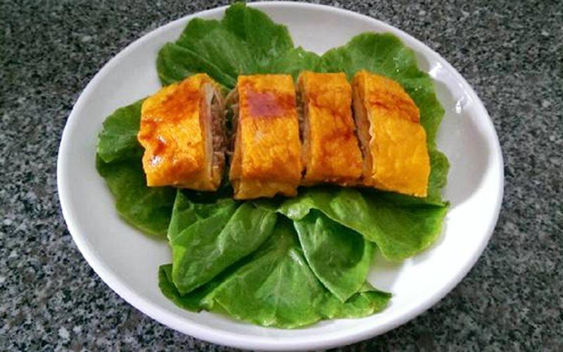 Cách làm Tàu Hũ Ky Cuộn Nấm thanh đạm cho ngày ăn chay