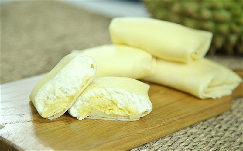 Cách Làm Bánh Crepe Cuộn Nhân Sầu Riêng Thơm Ngon