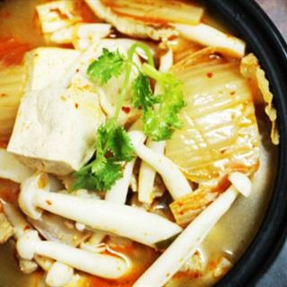 Cách Làm Canh Kim Chi Nấu Đậu Thịt Và Nấm Linh Chi
