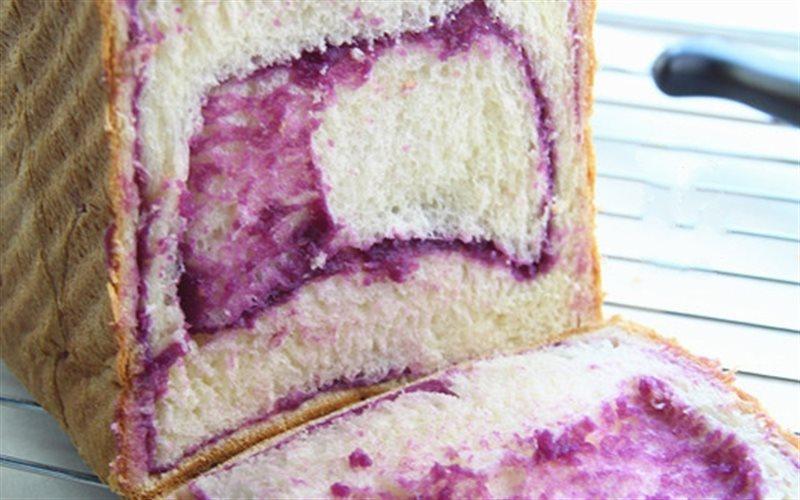 Cách Làm Bánh Mì Sandwich Khoai Lang Tím Xốp Mềm