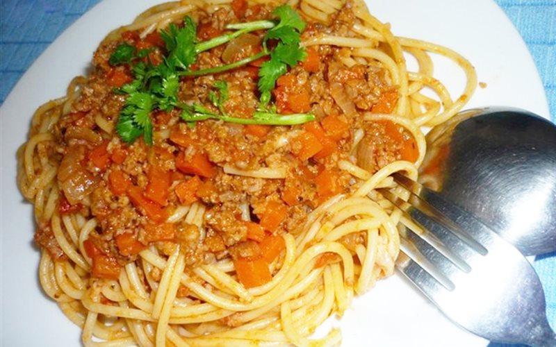 Cách Làm Spaghetti Thịt Bằm Cà Rốt Cho Bữa Sáng