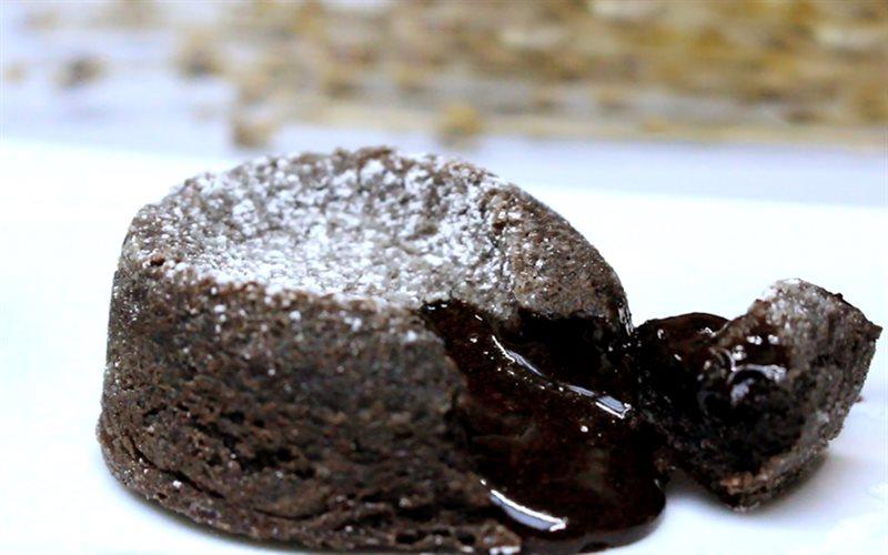 Cách làm bánh lava chocolate