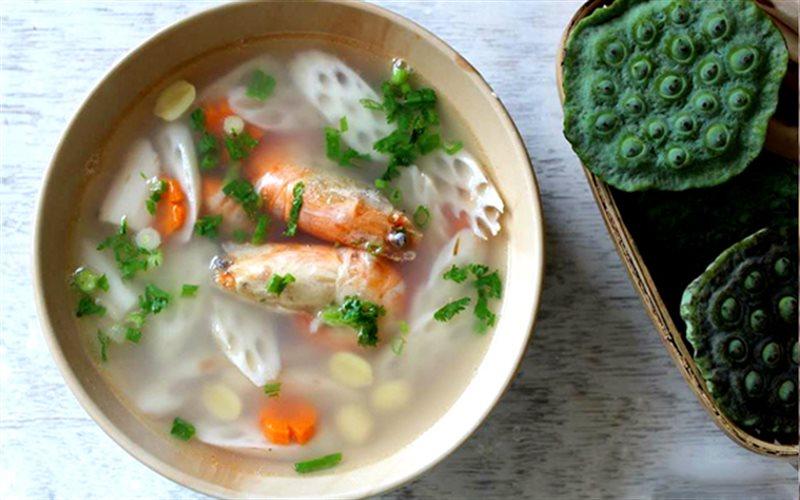 Cách Làm Canh Tôm Nấu Củ Sen Thanh Mát Ngon Miệng