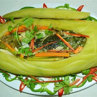 Cách làm Cá Hấp Bầu ngọt mát thanh đạm giải nhiệt ngày hè