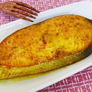 Cách làm cá hồi nướng nghệ