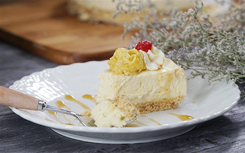 Cách Làm Cheese Cake Sầu Riêng Béo Ngậy Thơm Lừng