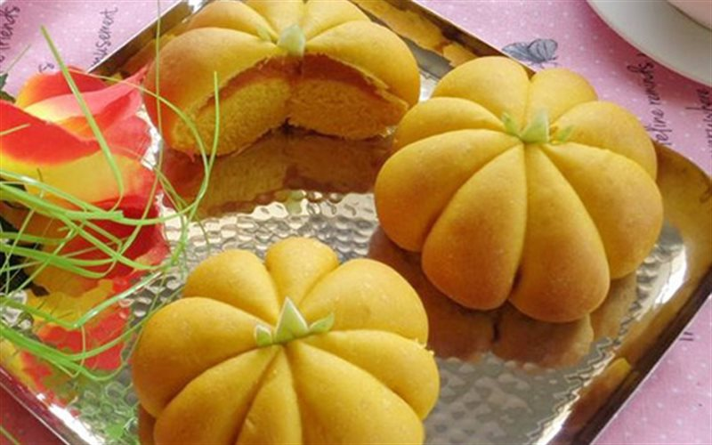 Cách Làm Bánh Mì Bí Đỏ Cực Dễ Thương, Rất Ngon