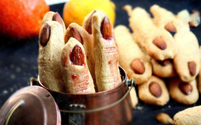 Cách Làm Bánh Quy Hình Ngón Tay CHo Tiệc Halloween