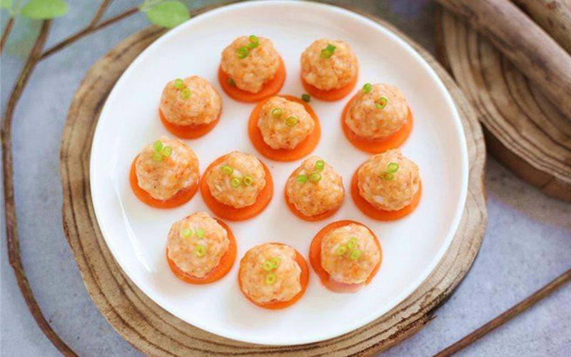 Cách làm tôm viên hấp cà rốt
