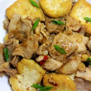 Cách Làm Thịt Xào Đậu Hũ Sốt Tương Bần, Ngon Cơm