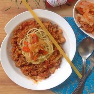 Cách Làm Spaghetti Kim Chi Thơm Ngon Đơn Giản