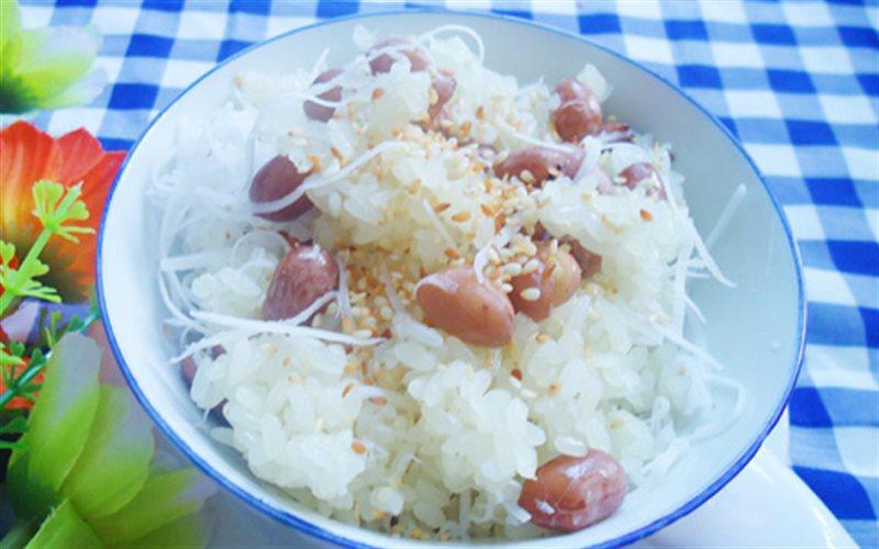 Cách Làm Xôi Đậu Phộng Dừa Dẻo Ngon Cho Bữa Sáng