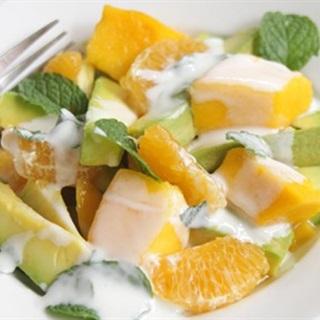Cách Làm Salad Xoài Bơ Sốt Sữa Chua Ăn Cực Mát