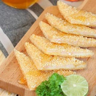 Cách Làm Bánh Mì Nướng Tôm Mè Giòn Tan, Thơm Ngon
