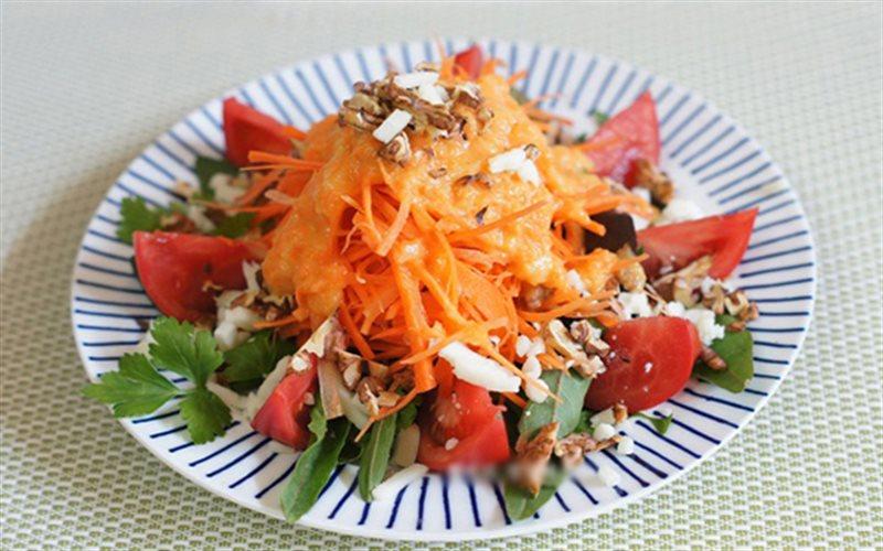 Cách Làm Salad Cà Rốt Cà Chua Khai Vị Cực Ngon