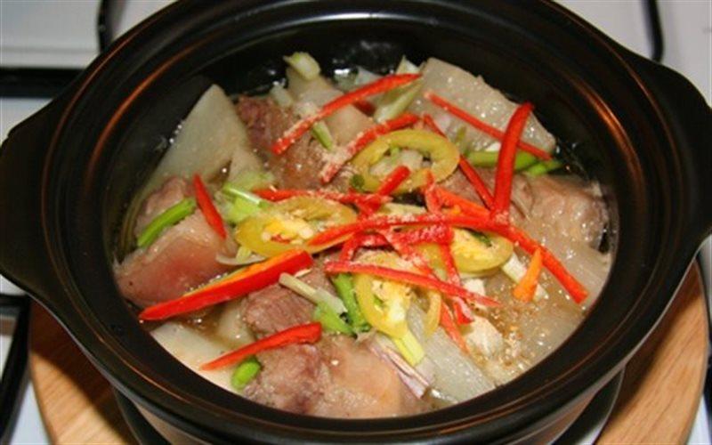 Cách làm Thịt Heo Kho Củ Cải Trắng cho bữa cơm nhà ấm áp
