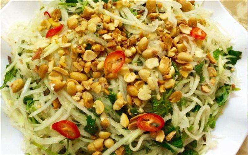 Cách làm Gỏi Đu Đủ Rau Kinh Giới lạ miệng, cho bữa cơm