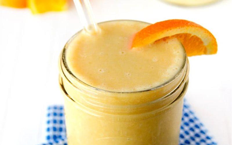 Cách làm Sinh tố chuối cam