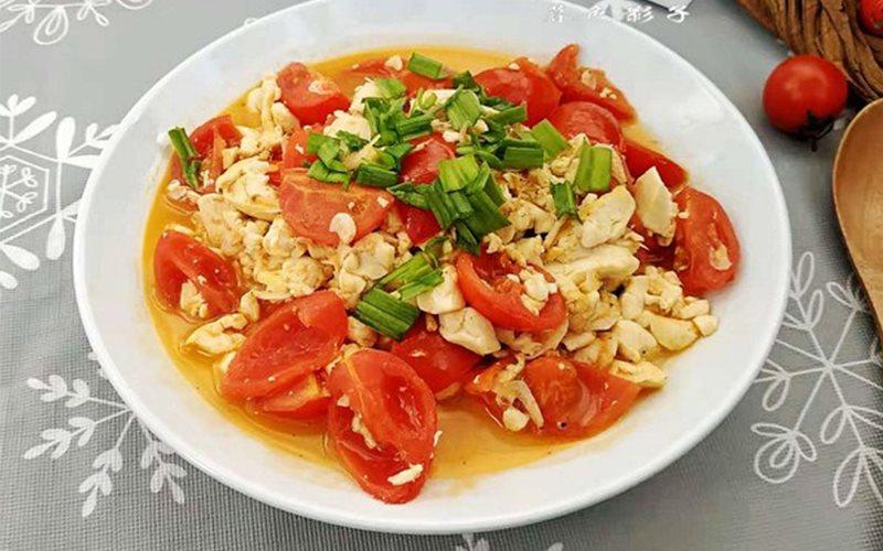 Cách làm đậu hũ non xào cà chua tép khô