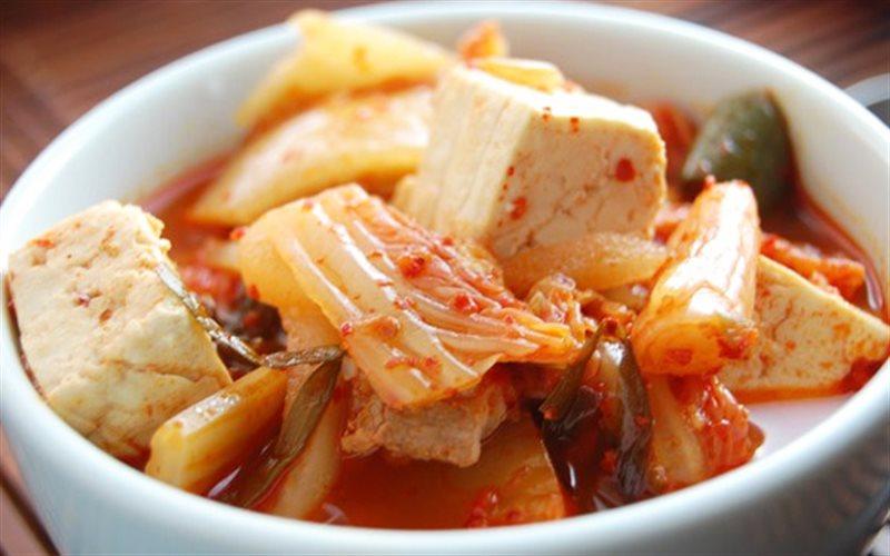 Cách Làm Canh Kimchi Cải Thảo Thịt Gà Và Đậu Hũ