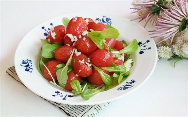 Cách Làm Salad Cà Chua Bi Cải Non Ngon, Đơn Giản