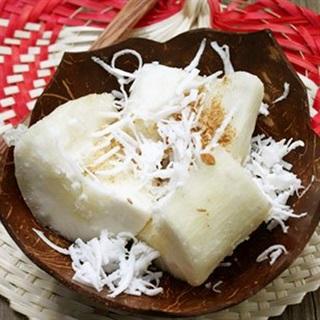 Cách làm Khoai Mì Hấp Nước Cốt Dừa béo ngậy thơm lừng