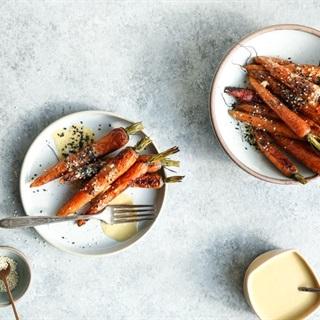 Cách làm Cà rốt nướng sốt mè