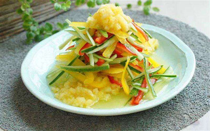 Cách Làm Salad Thơm Tứ Sắc Hấp Dẫn Ngon Miệng