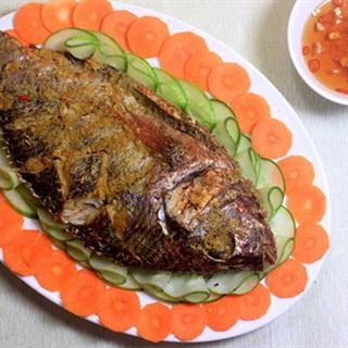 Cách làm cá rô phi nướng sả ớt