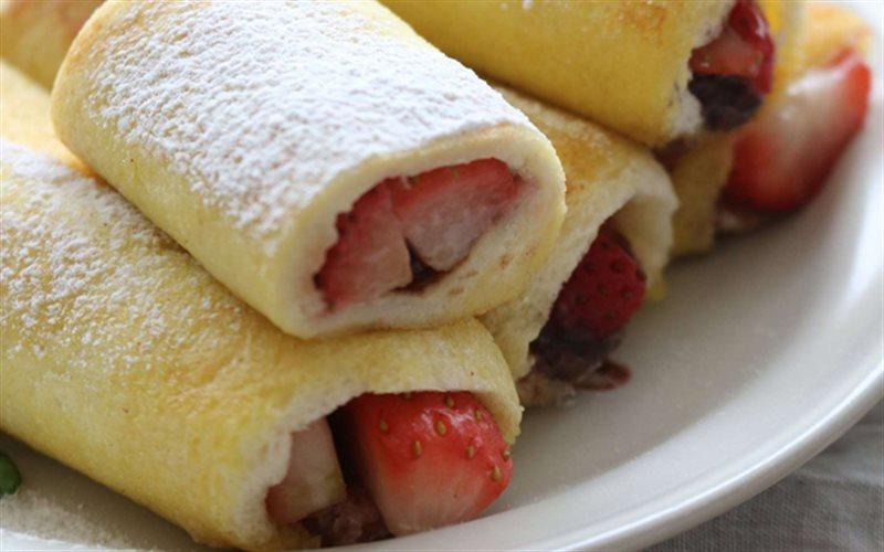 Cách làm Sandwich Cuộn Trái Cây vừa đẹp mắt vừa ngon lành