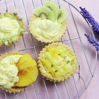 Cách làm bánh tart trái cây kem custard
