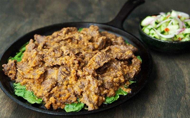 Cách làm Thịt Bò Xào Sốt Đậu Phộng lạ miệng và dinh dưỡng