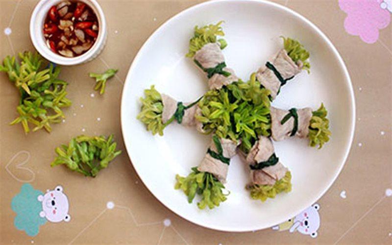 Cách Làm Thịt Cuộn Hoa Thiên Lý Hấp Ngon Miệng