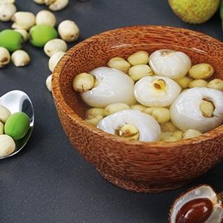 Chè vải bọc hạt sen