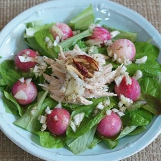 Salad rau thịt gà