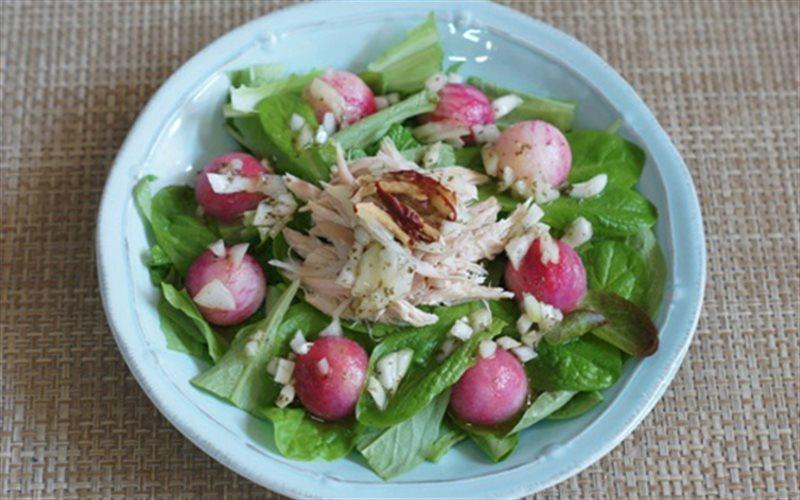 Cách làm Salad Rau Thịt Gà làm món khai vị rất ngon lành